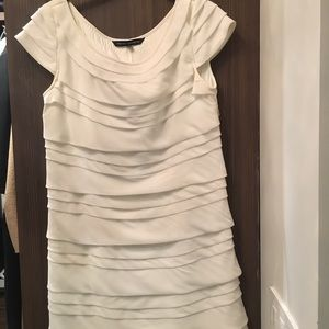 White ruffle mini dress